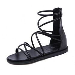 Shoespie Flat Black Casual Sandals