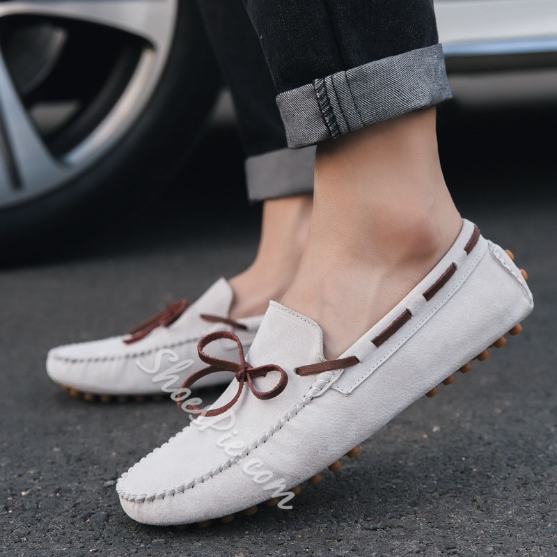 Shoespie Plain Low-Cut Men's Slip-On Loafers