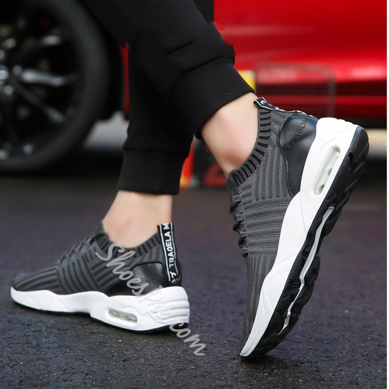 Shoespie Men's Casual Breathable Lace-Up Sneakers