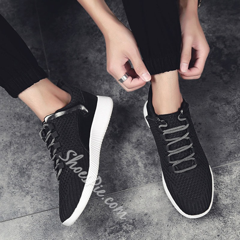 Shoespie Lace-Up Sports Men's Mesh Sneakers