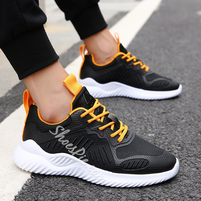 Shoespie Lace-Up Low-Cut Men's Mesh Sneakers