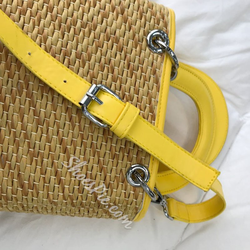 Shoespie Polyester Knitted Tote Bags