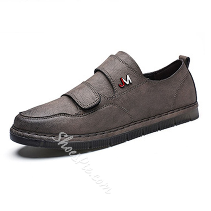 Shoespie Velcro Low-Cut Men's Flat Shoes