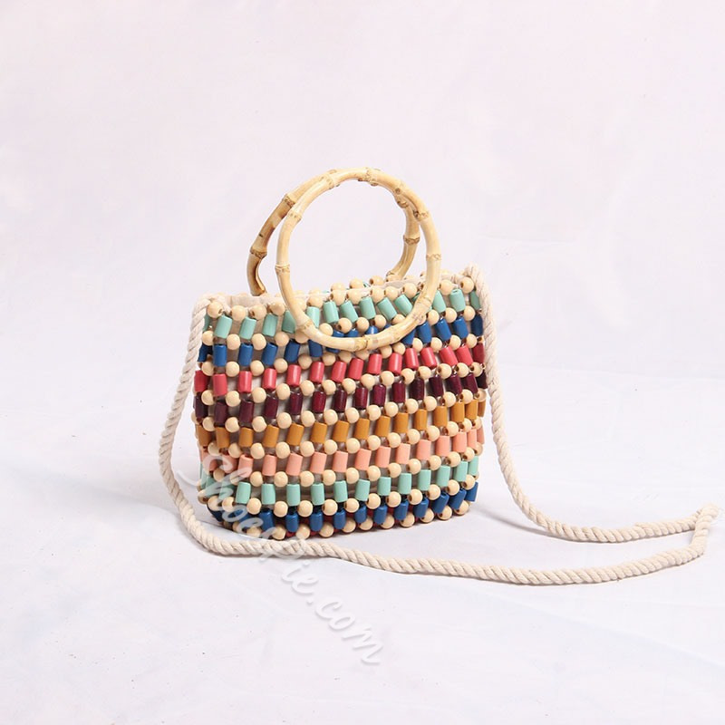 Shoespie Colorful Beads Tote Bags
