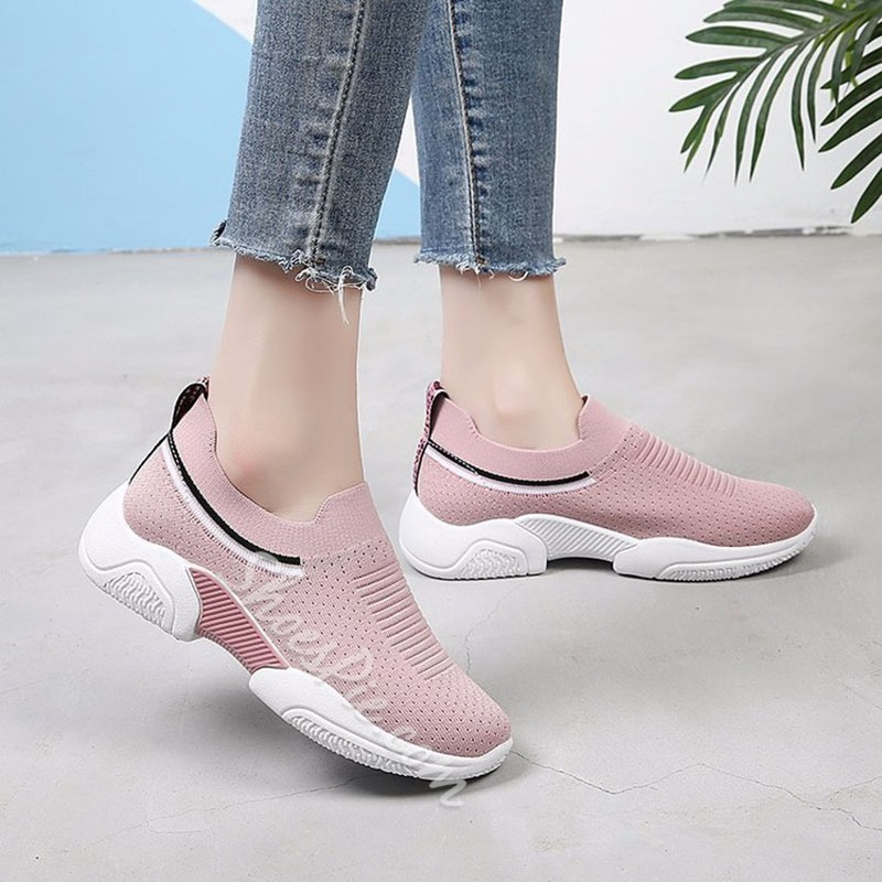Shoespie Mesh Breathable Slip-On Sneakers