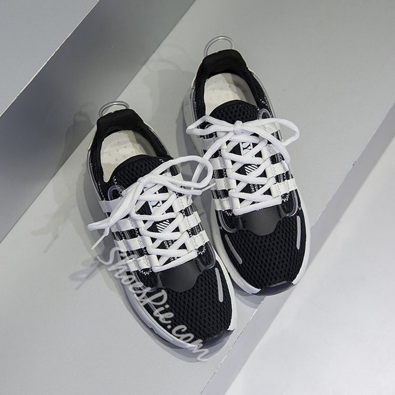 Shoespie Breathable Lace-Up Sneakers