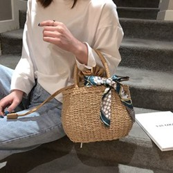 Summer Knitted Grass Tote Bags