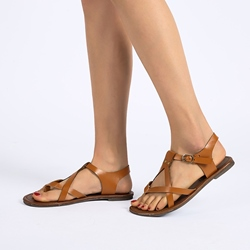 Shoespie Clip Toe Thong Buckle Block Heel Plain Sandals