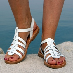 Shoespie Flat Open Toe Buckle Plain Sandals