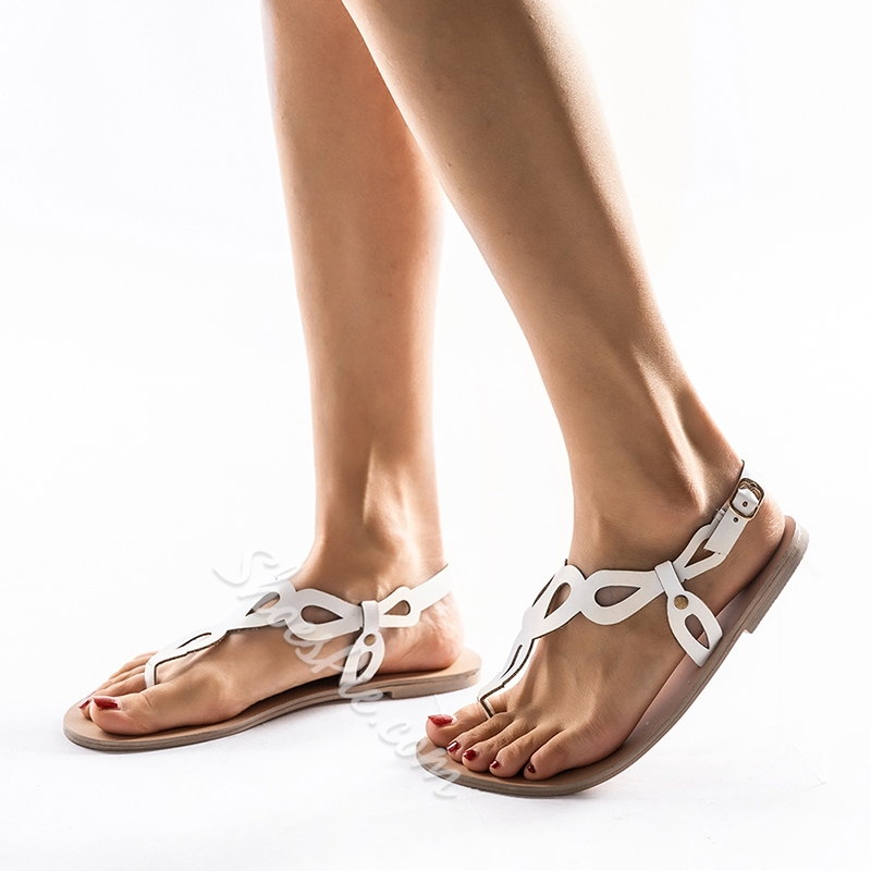 Shoespie Casual Thong Buckle Flat Sandals