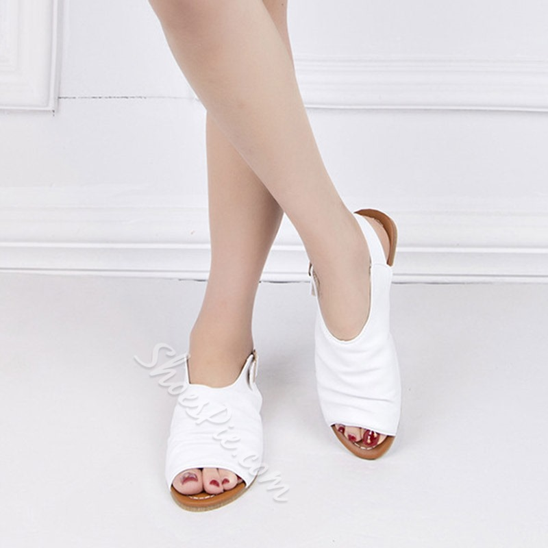 Shoespie Flat Slingback Strap Buckle Sandals