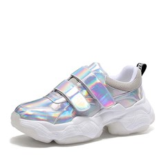 Shoespie Glitter Chunky Velcro Sneakers
