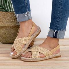 Shoespie Open Toe Slip-On Flat Casual Sandals