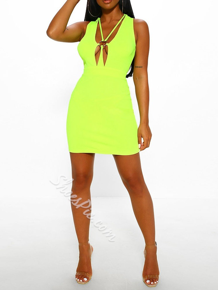 Sleeveless Above Knee Bodycon Women's Dress