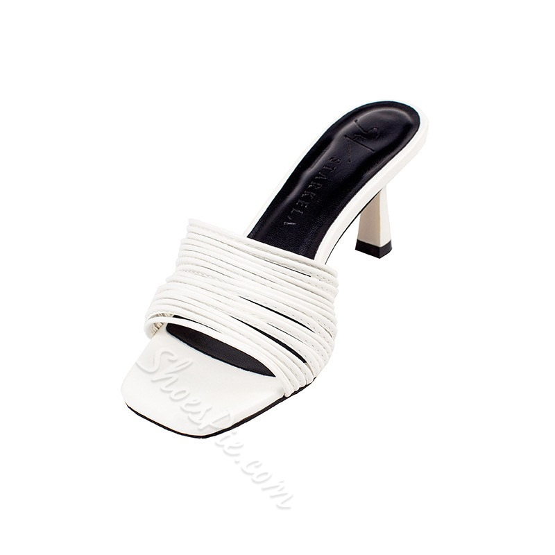 Shoespie Stiletto Heel Hollow Slippers