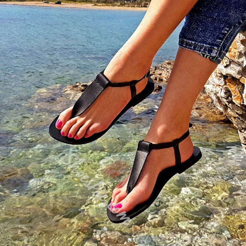 Shoespie Clip Toe Buckle Thong Casual Sandals