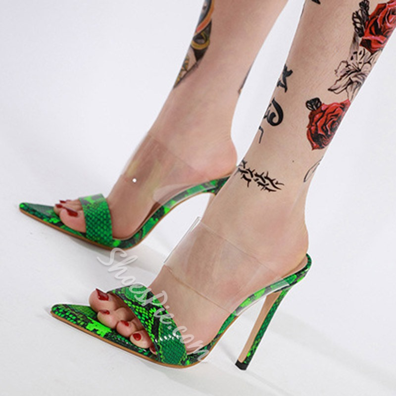 Shoespie Stylish Slip-On Flip Flop Stiletto Heel Western Sandals