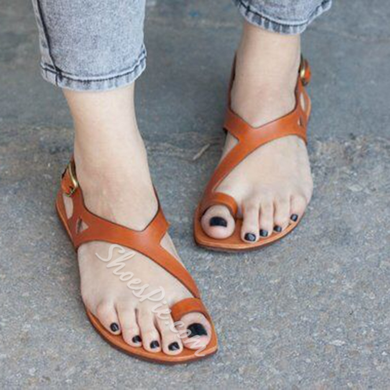 Shoespie Stylish Toe Ring Slingback Strap Buckle Casual Sandals