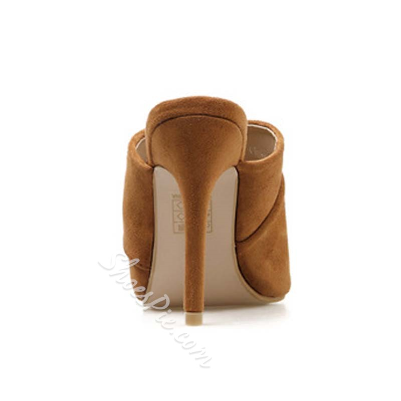 Shoespie Open Toe Stiletto Heel Slippers