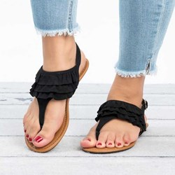 Shoespie Summer Buckle Thong Sandals
