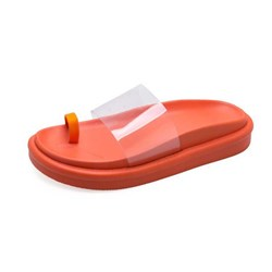 Shoespie Clip Toe Clear Neon Slippers