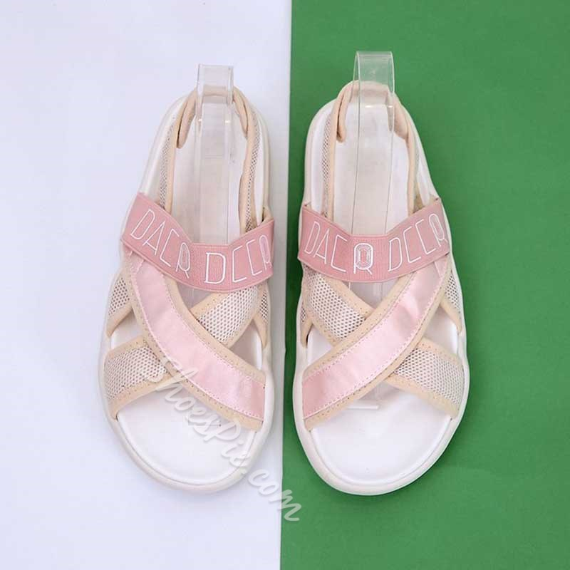 Shoespie Ankle Strap Velcro Open Toe Sandals