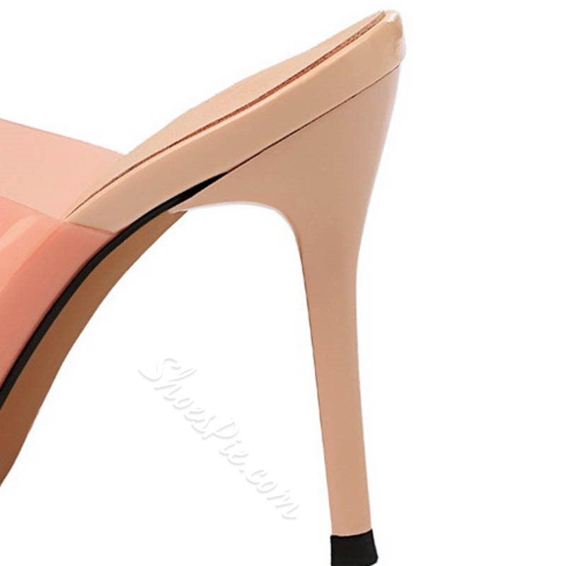 Shoespie Backless Jelly Stiletto Heel Mules