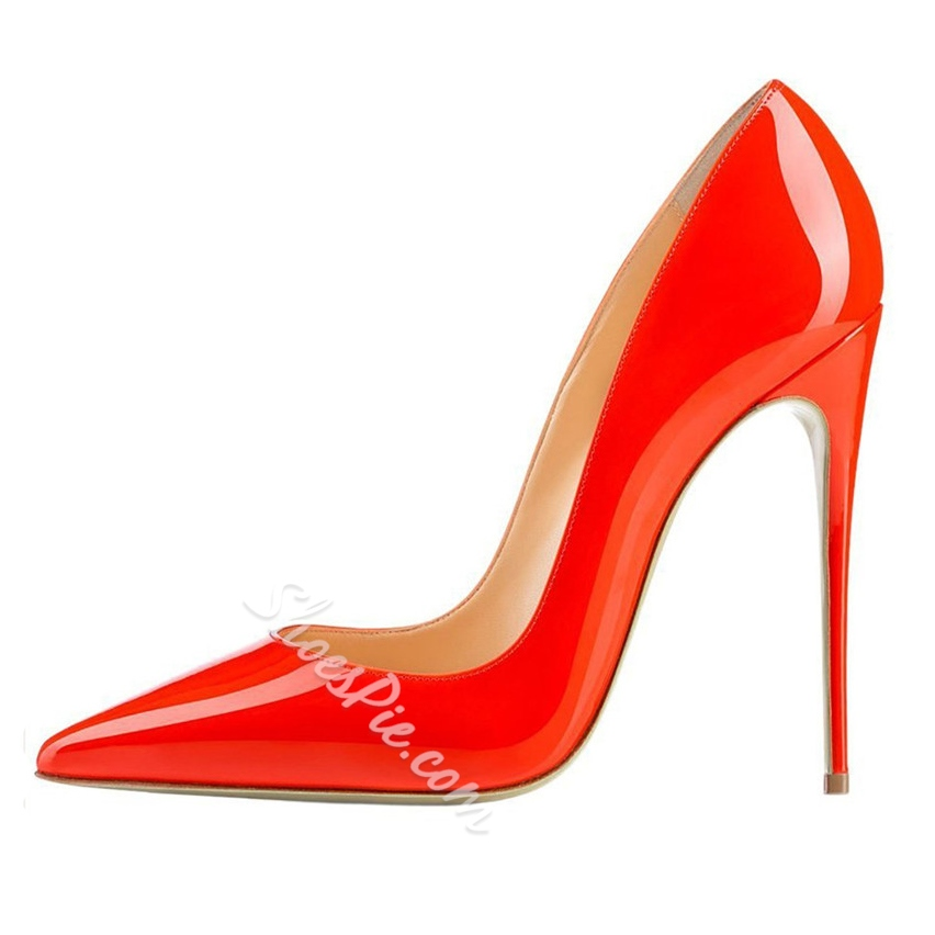 Shoespie Sexy Pointed Toe Stiletto Red Heels