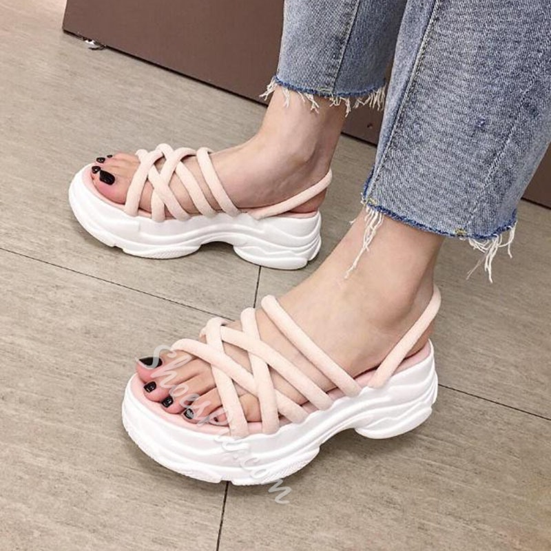 Shoespie Slingback Strap Open Toe Casual Sandals