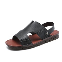 Shoespie Men's Black Open Toe Sandals