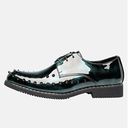 Shoespie Lace-Up Men's Rivet Microfiber Oxford Shoes