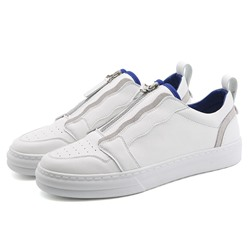 Shoespie Zipper Low-Cut Upper Color Block Round Toe Skate Shoes
