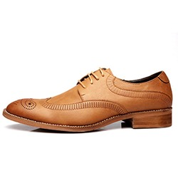 Shoespie Men's Lace Up Flat Oxford Shoes