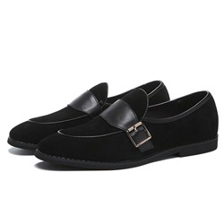 Shoespie Men's Plain Slip-On Low-Cut Upper Microfiber Thin Shoes