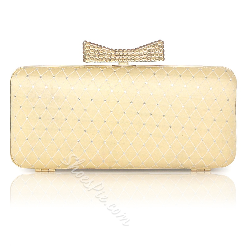Shoespie Versatile Bow Rectangle Clutches Evening Bags