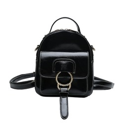Shoespie Thread Soft PU Plain Backpacks