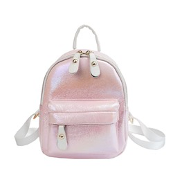 Shoespie Jelly Color Soft PU Thread Backpacks