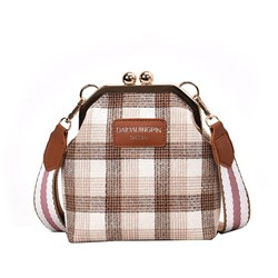 Shoespie PU Plaid Crossbody Bags