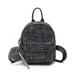 Shoespie Wool Blends Thread Plaid Backpacks