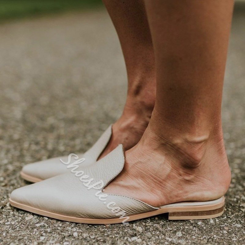 Shoespie Backless Closed Toe Summer Slippers