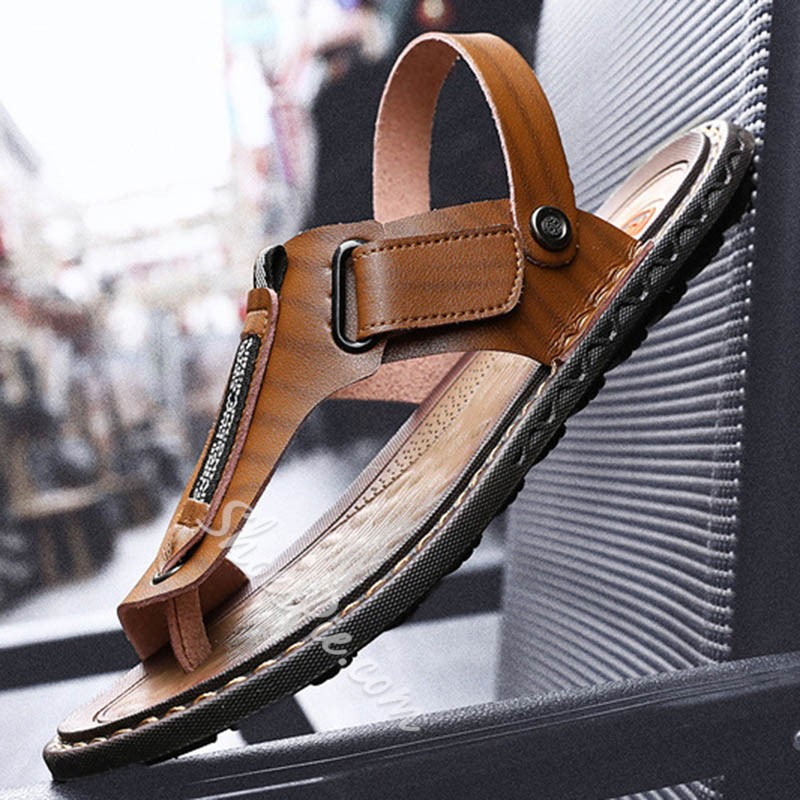Shoespie Clip Toe Backless Men's Sandals