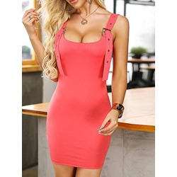 Sleeveless Above Knee Suspenders Women's Dress