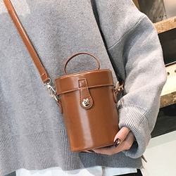 Shoespie Plain PU Thread Crossbody Bags