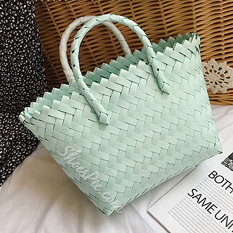 Shoespie Knitted Casual Tote Bags
