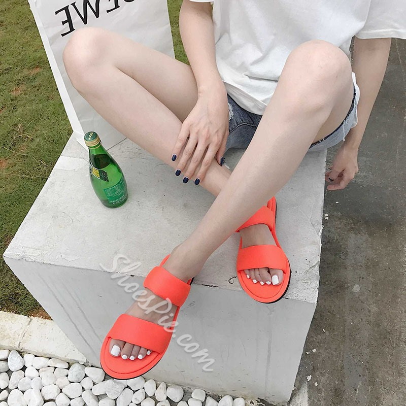 Shoespie Neon Casual Summer Slippers