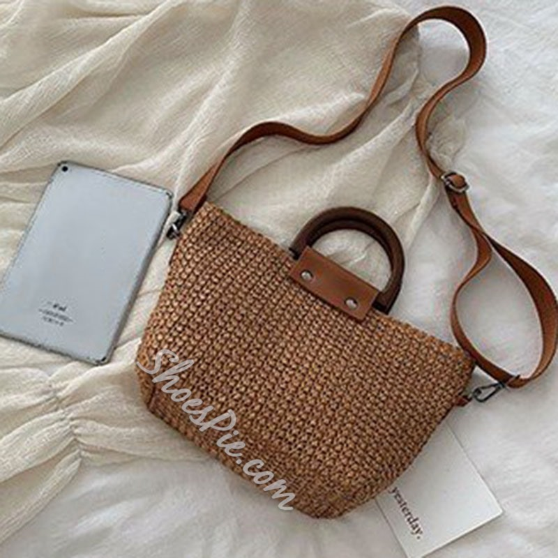 Shoespie Knitted Crossbody Bags