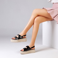 Shoespie Trendy Buckle Slingback Strap Sandals