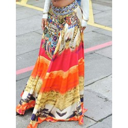Expansion Print Geometric Ethnic Women's Skirt