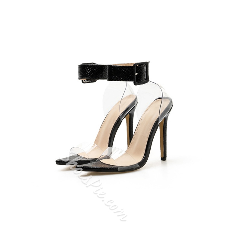 Shoespie Stylish Buckle Heel Covering Open Toe Jelly Sandals