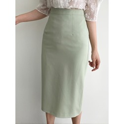 Plain Mid-Calf Bodycon High Waist Women's Skirt